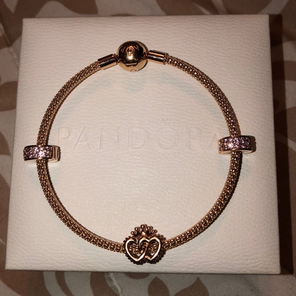 Pandora Rose Gold Mesh Bracelet